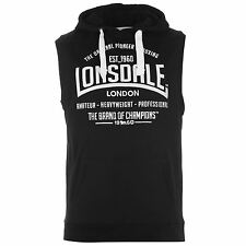 Lonsdale Mens Box Sleeveless Hoody Boxing Hoodie Hooded Sweatshirt Top