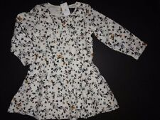 NWT Baby GAP 2T 3T/Years Deer Critter Pintuck Pleat Dress Long Sleeve