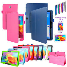 "PU Leather Folio Case Stand Cover For Samsung Galaxy Tab 4 7.0"" /10.1"" SM-T530"