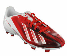 New Boys Adidas Messi White Boots F10 TRX Moulded Studs Football Size 13-5
