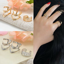 3Pcs/Set Popular Women Jewelry Gold Silver Above Band Knuckle Ring Midi Rings