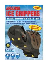 AMAZING ICE SNOW GRIPPERS ANTI SLIP SPIKE CRAMPONS FOR SHOES BOOTS GRIP WINTER