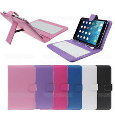 7 inch Universal Leather Case Cover Micro USB interface Keyboard For Tablet PC