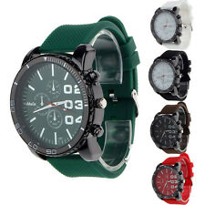 2015 Mens Quartz Watch Military Watches Sport Silicone Fashion Hours Wrist watch