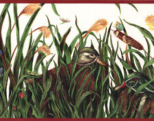 Ducks Wildlife Duck Pond Cattails Mallard Cabin Lake Lodge Wallpaper Wall Border