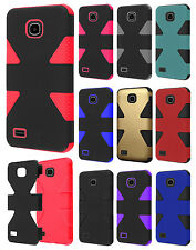 For Huawei Union Y538 IMPACT TUFF HYBRID Hard Case Skin Phone Cover Accessory
