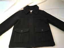 GYMBOREE BOYS BLACK WOOL WINTER COAT JACKET DRESSY SZ XS 3-4 EXCELLENT