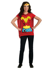 Adult 8-18 Wonder Woman Tee Shirt Outfit Fancy Dress Costume Ladies Female BN
