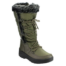 NATURE BREEZE FROST-01 Women's Stitching Lace Up Mid-Calf Snow Boots New In Box