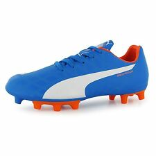 Puma Kids Junior EvoSpeed 5 FG Football Boots Lace Up Soccer Shoes Sports