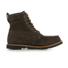 """MENS TIMBERLAND EK RUGGED 6"""" MOC TOE BOOT BROWN LEATHER SIZES 6.5 TO  11.5 UK"""
