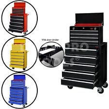 TOOL CHEST TOP CABINET 5 DRAWER AND TOP BOX ROLLCAB BOX US BALL BEARING SLIDES