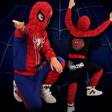 2PCS NEW Baby Boys long sleeve Spiderman Tops+Pants Set Kids Casual Clothes 02#