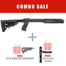 Fab Defense FIXED Stock for Ruger 10/22 w/ Free Angled Handle - R10/22 PTK