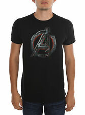 MARVEL AVENGERS AGE OF ULTRON MOVIE LOGO BLACK Men's T-SHIRT Tee FREE SHIP NEW