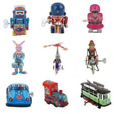 Vintage Wind Up Clockwork Robot Vehicle Animals Tin Toys Party Favor Collectible
