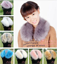 Women Ladies Winter Fluffy Faux Rabbit Fur Collar Scarf Shawl Wrap Cape Stole