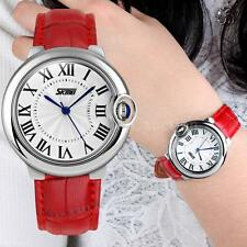 Fashion Casual Women Wristwatch Retro Roman Numerals Dial Lady Leather Watch