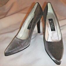 STUART WEITZMAN Shimmer Silver Womens Stilleos~Size 7M-4 Inch heels-Md In Italy