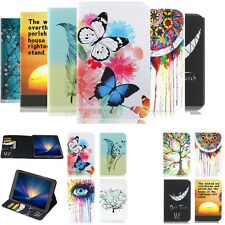 -TX Patterned Wallet PU Leather Case Cover For Samsung Galaxy Tab 3 4 A E S S2