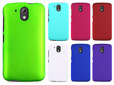 For HTC Desire 526 Rubberized HARD Case Phone Cover Accessory + Screen Guard