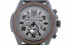 Men's Citizen AT2278-58H Eco-Drive Chronograph Black Stainless Steel Watch