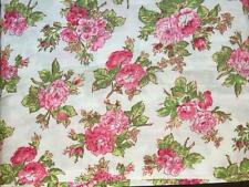 Laura Ashley IONA Pink Shabby Chic Floral Roses Floral 4-Pc Sheet Set 300 TC NIP