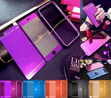 Front+Back Mirror Tempered Glass Metal Bumper Frame Case For iPhone 7 6 PLUS 5S