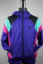 Puma Mens Seasonal Wind Jacket Spectrum Blue Black Pink TL23180 NWT