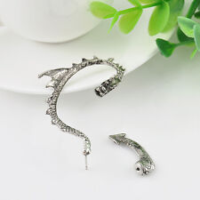 2pcs New Dragon Snake Ear Cuff Clip Wrap Lure Stud Earring Gothic Punk Gift