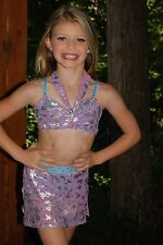 Lavender & blue 2 piece custom lyrical  competition dance costume  CML