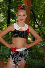 Red white black custom competition dance costume  AXS