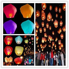 Chinese Paper Lanterns Candle Lamp Sky Flying Wishing  for Wedding Party