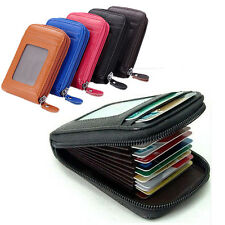 Woman Men Vogue Mini Top Leather Wallet ID Credit Cards Holder Organizer Purse