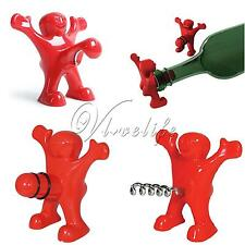 New Happy Man Bottle Wine Bar Cork Screw Opening Stopper Cap Tool Christmas Gift