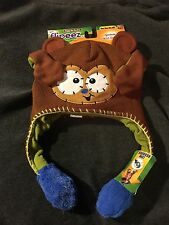 Flipeez Action Hats, Just Squeeze, Ears, Paws or Arms Pop Up. Lined Knit Trapper