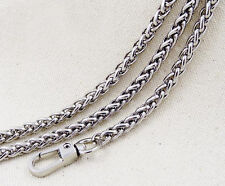 Hot Exquisite 20-120CM Chain For Handbag Shoulder Strap Bag Silver D333
