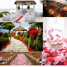 100pcs Silk Rose Petals Flower Engagement Confetti Wedding Party Bar Decorations