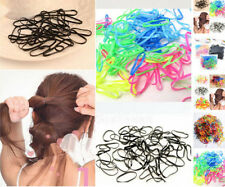 400pcs/Pack Rubber Hairband Rope Ponytail Holder Elastic Hair Band Ties Braids