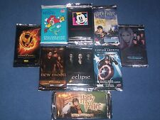 "TV & Movie Trading Card Packs - ""Buffy"", ""Harry Potter"", ""Twilight"" etc, Sealed"