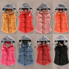 10 colors Winter Women's Thick Warm Vest Fashion Slim Down Cotton Hooded Jacket