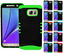 Black Heavy Duty Shock Armor Impact Hard Cover Case for Samsung Galaxy Note 5