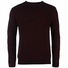 Lee Cooper Mens Crew Neck Knit Jumper Long Sleeve Sweater Pullover Top