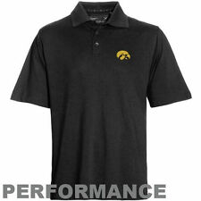 Mens Iowa Hawkeyes Cutter & Buck Black DryTec Championship Polo - College