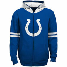Indianapolis Colts Youth Helmet Full-Zip Hoodie - Royal - NFL