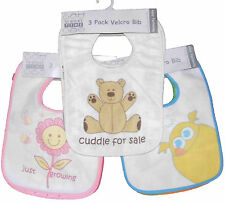 Toddler Bibs Set of Three Boys Girls Unisex Ideal for weaning 6-12months approx