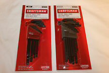 New Craftsman 13 Piece Ball End Hex Key Allen Set You Choose Metric or SAE