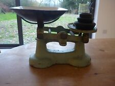 Vintage Enameled Cast Iron Weighing Scales