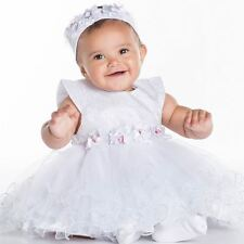 Baby Girls Christening Dress, White Dress, Christening Gown, Baby Girls Dress