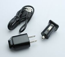 Home Wall AC Charger + 2.1A Car Adapter + Charge/Sync Cable for Kyocera Huawei